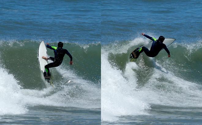 Surfing Necochea Argentina